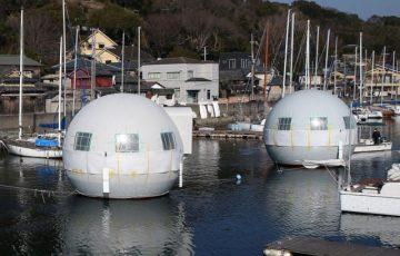 海上の球体ホテル