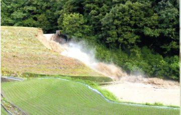 福山市のため池決壊